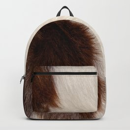 Animal Fur Brown And White Backpack