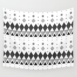 Geometric Screen Print Wall Tapestry