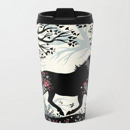 Folk Unicorn Metal Travel Mug