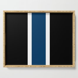 TEAM COLORS 10....NAVY AND BLACK Serving Tray