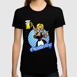 Oktoberfest - girl in a dirndl T-shirt