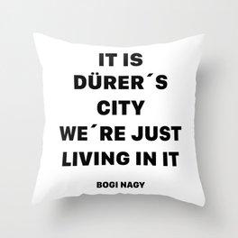 DÜRER´S CITY Throw Pillow
