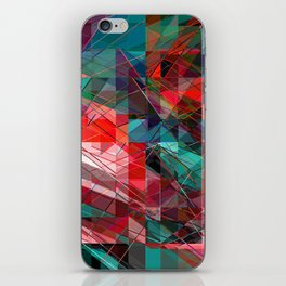 colored triangles iPhone Skin