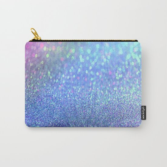 PINK PURPLE GLITTER Carry-All Pouch