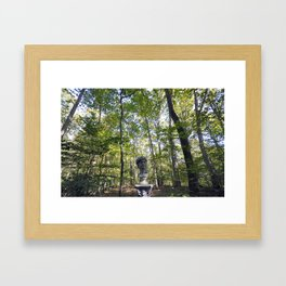 Roman Statue Bust in a Forest Framed Art Print