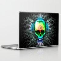 marijuana Laptop & iPad Skins featuring Marijuana Psychedelic Skull by BluedarkArt