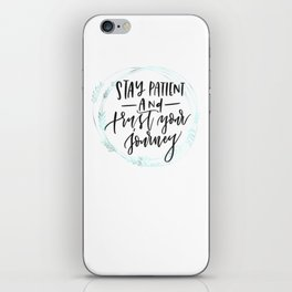 trust your journey- green wreath iPhone Skin