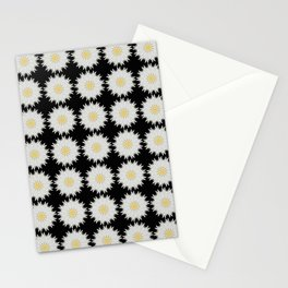 Daisy Abstract Repeat Dot Pattern  Stationery Cards