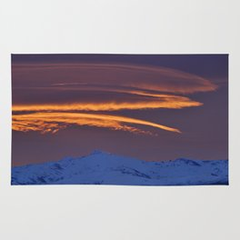 """""""Sunrise at the mountains"""" Rug"""