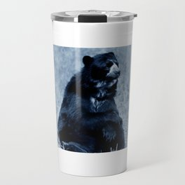Black bear contemplating life Travel Mug