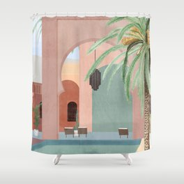 Moroccan Pool Shower Curtain