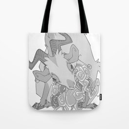 Gut Wretched Goat - Gray Tote Bag