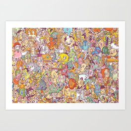 flapdoodle Art Print