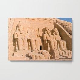 Great Temple of Abu Simbel Metal Print