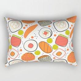 Japanese sushi lovely pattern Rectangular Pillow