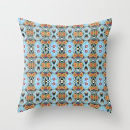 Egyptian pattern Throw Pillow