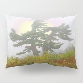 TSUGA MERTENSIANA IN AN AUTUMN CLOUD Pillow Sham