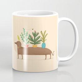 Dachshund & Parrot Coffee Mug