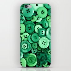 Button Green iPhone & iPod Skin