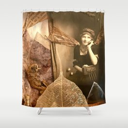 I Dream in  Black & White Shower Curtain