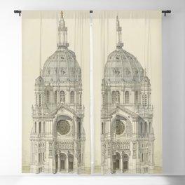 Church of St. Augustine Paris Blackout Curtain