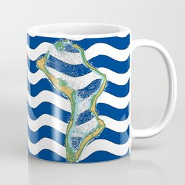 Diego Garcia Flag with Map of Diego Garcia Islands Coffee Mug