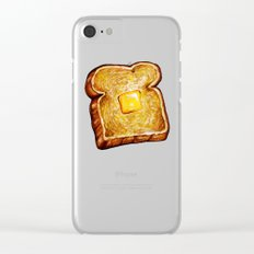 Toast Pattern Clear iPhone Case