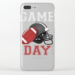 Game Day High School Football  Clear iPhone Case