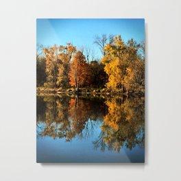 Autumn Tree's Reflected on a Still Lake #2 Metal Print