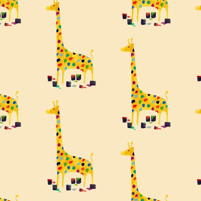 Paint by number giraffe Leggings