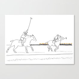 Polo Horses on the Field NYC Canvas Print