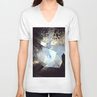mirror V-neck T-shirts featuring mirror by Nat Alonso