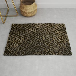 Gold Chain Mail Rug