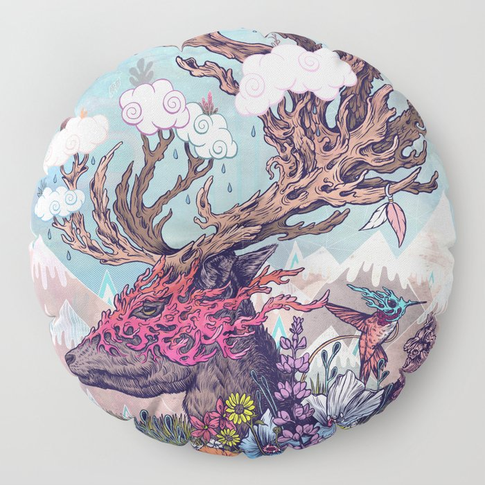 Journeying Spirit (deer) Floor Pillow