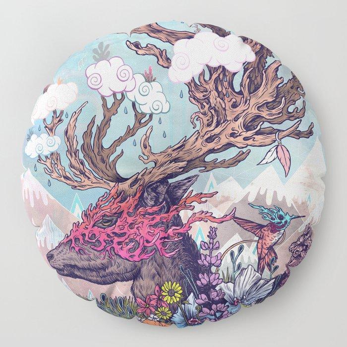 Journeying Spirit (deer) Floor Pillow