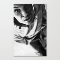 moriarty Canvas Prints featuring Moriarty by Cécile Pellerin