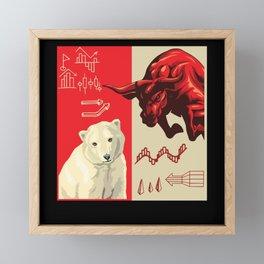 Bull or bear market Framed Mini Art Print