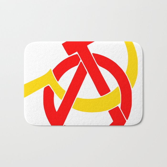 Anarcho-Communist Symbol Soviet USSRColors Bath Mat