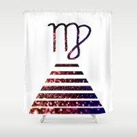 virgo Shower Curtains featuring Virgo by haroulita