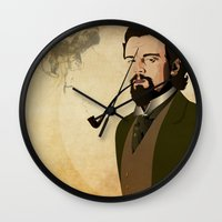 django Wall Clocks featuring Django  by William Rutherford