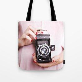 Vintage camera love Tote Bag
