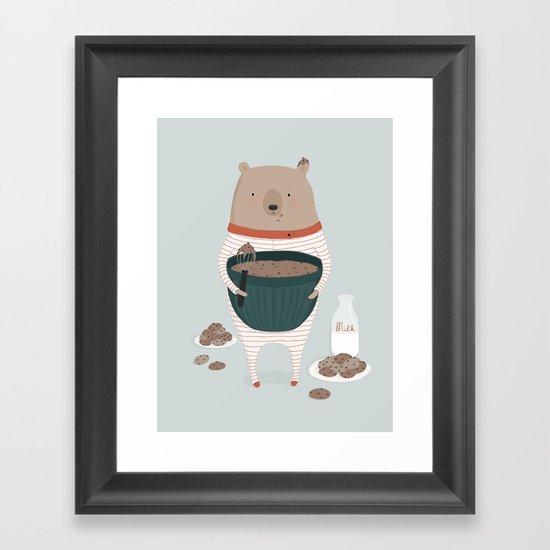 Maxwell's Midnight Snack Framed Art Print