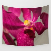 orchid Wall Tapestries featuring Orchid by Michelle McConnell