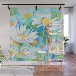 Happy Daisies Wall Mural