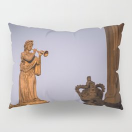 Muse of Flutes and  Lyrical Poetry Euterpe on the Clarendon Building Oxford University England Pillow Sham