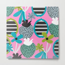 Summer mix in pink and blue Metal Print