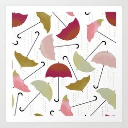 Dancing Umbrellas Art Print