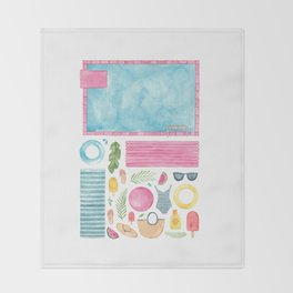Pool Party! Throw Blanket