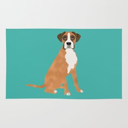 Boxer dog breed gifts for pure breed boxer dog lovers Rug