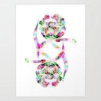 Flowers - White Art Print